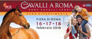 """""""Cavalli a Roma"""" al via venerdì 16: ecco il programma della 1^ giornata"""